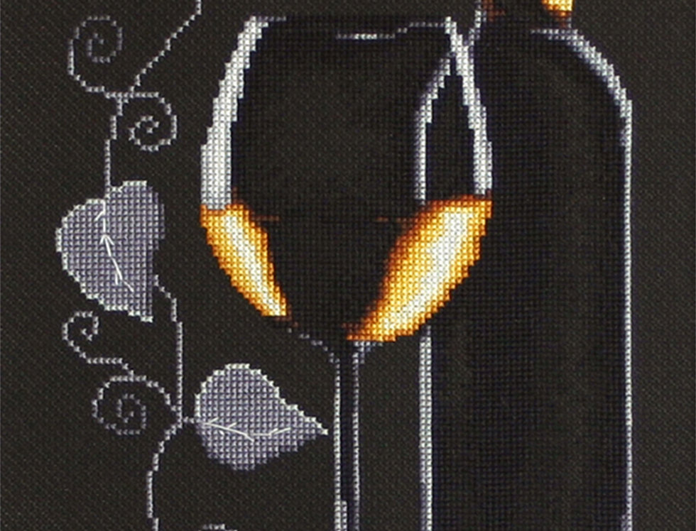 B2221 Bottle of wine - Cross Stitch Kit Luca-S