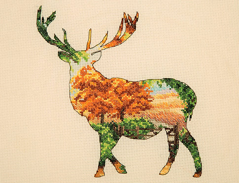 Silueta de ciervo - Maia Collection - Kit de punto de cruz