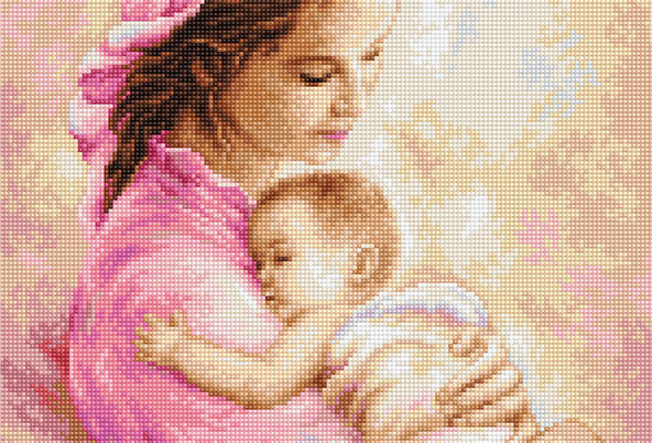 G536 Mother and Girl - Petit Point Luca-S Kit