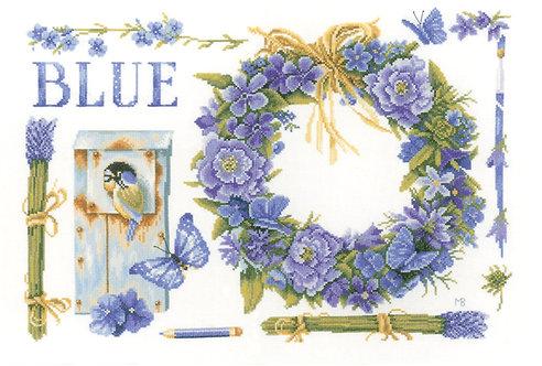 Lavender Wreath - Lanarte - Kit de punto de cruz
