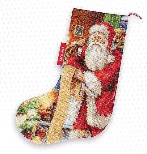PM1232 Lista de Papa Noel - Luca-S - Calcetín de Navidad