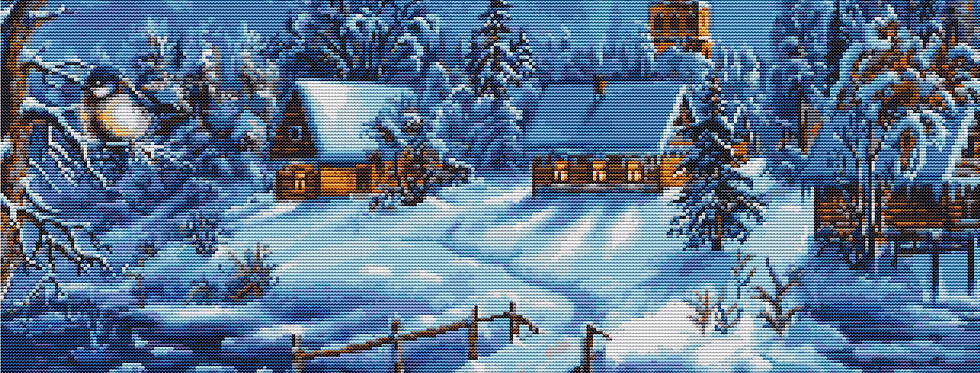B447 Winter Landscape - Cross Stitch Kit Luca-S