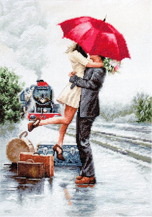 B2369 Couple on train station
