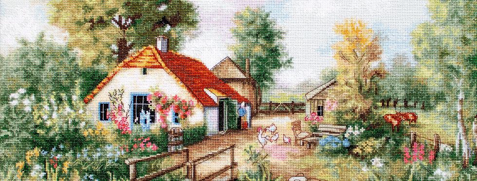 BU4011 Village landscape - Cross Stitch Kit Luca-S