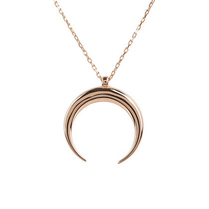 Cosmic Horn Tusk Necklace Rosegold