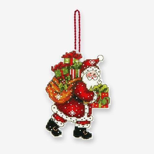 Santa con el bolso - 70-08912 Dimensions - Kit de punto de cruz