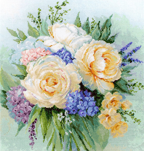 B2370 Ramo de flores - Luca-S - Kit de Punto de Cruz