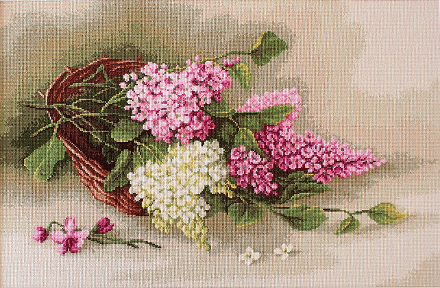 Basket with Lilacs