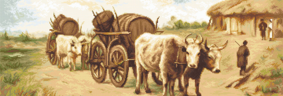 G579 Ox Cart - Petit Point Kit Luca-S