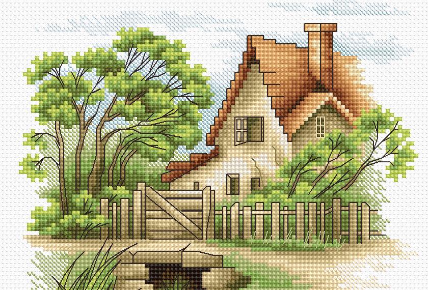 B2278 Summer Landscape - Cross Stitch Kit Luca-S
