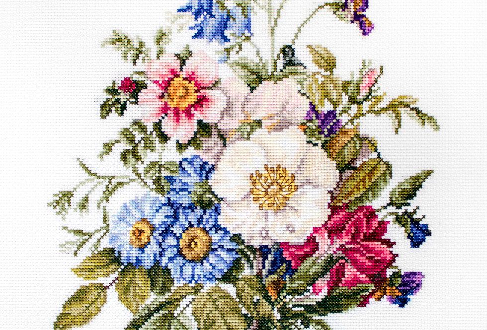 BU4004 Summer flower bouquet - Cross Stitch Kit Luca-S