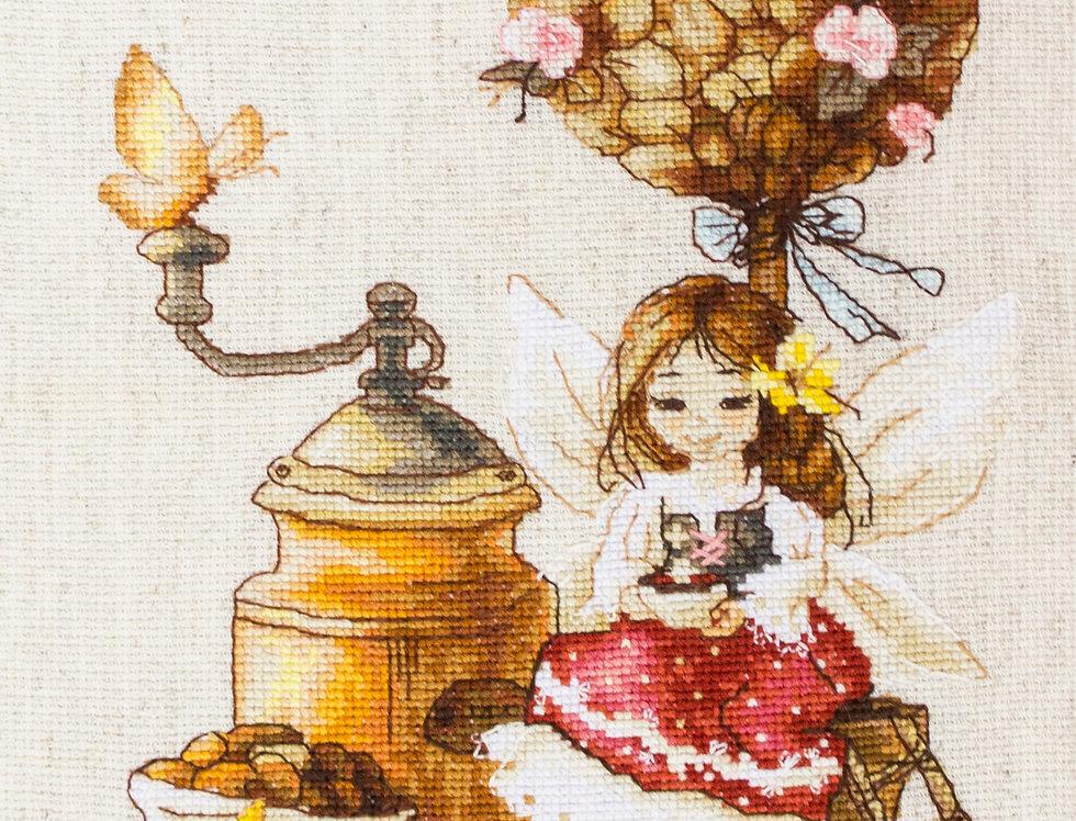 B1132 The coffee fairy - Cross Stitch Kit Luca-S