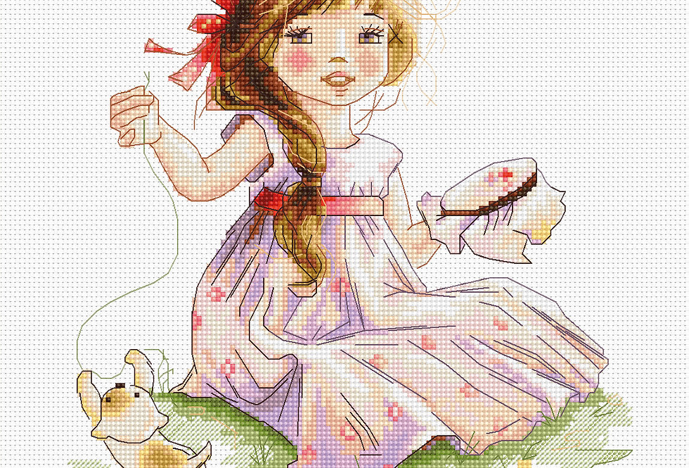 B1107 Making cross stitch - Cross Stitch Kit Luca-S