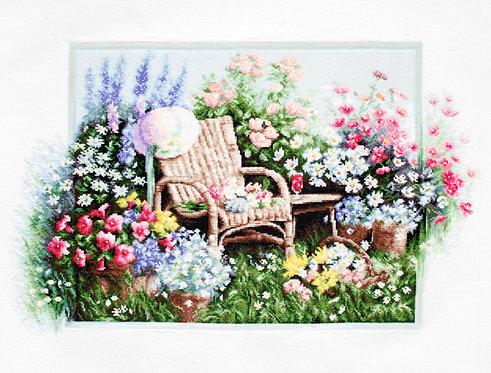 B2344 Jardin Floreciente - Luca-S - Kit de Punto de Cruz