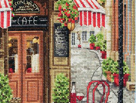 Anchor Essentials Cross Stitch Kit - French City Scene