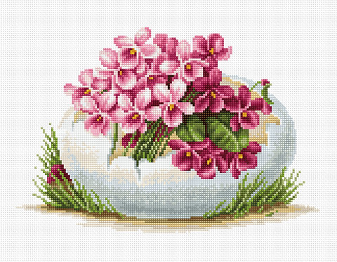 B105 Easter greeting card - Cross Stitch Kit Luca-S