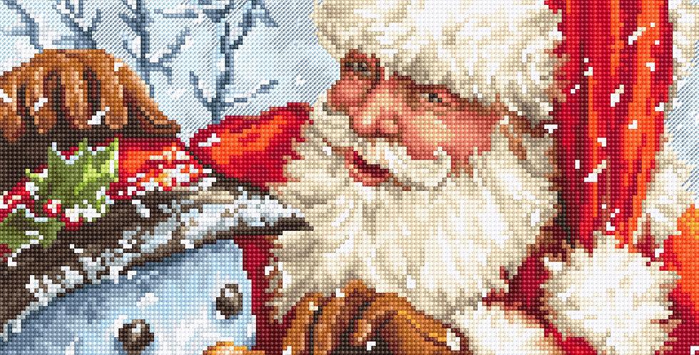 LETI 919 Santa Claus and Snowman - Cross Stitch Kit LETISTITCH