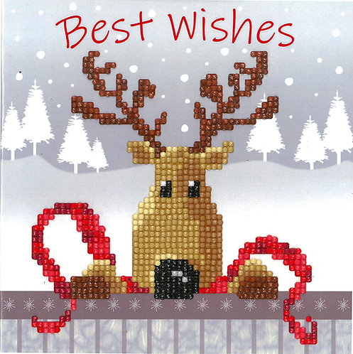 Reindeer Greeting Card - Vervaco - Kit para mosaico
