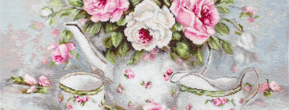 G565 English Tea & Roses - Petit Point Kit Luca-S