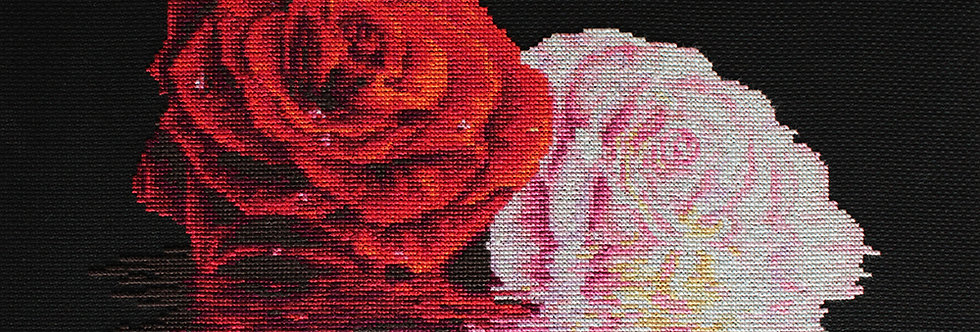 B2287 His and Hers - Roses - Cross Stitch Kit Luca-S