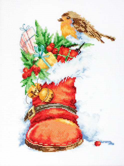 B2310 Christmas boot - Cross Stitch Kit Luca-S