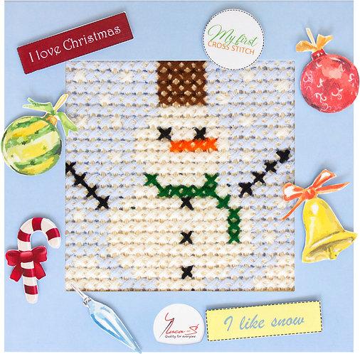 X15 Snowman - Cross Stitch Kit Luca-S