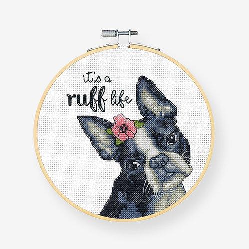 Ruff Life - 72-76108 Dimensions - Kit de punto de cruz