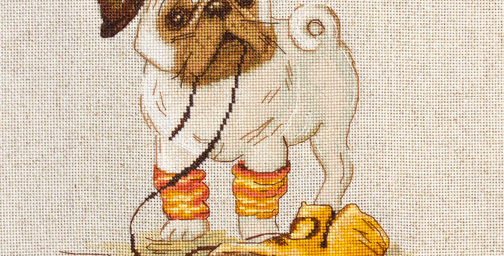 B1122 Pug - Cross Stitch Kit Luca-S