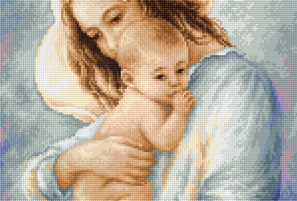 G537 Mother and Child - Petit Point Luca-S Kit