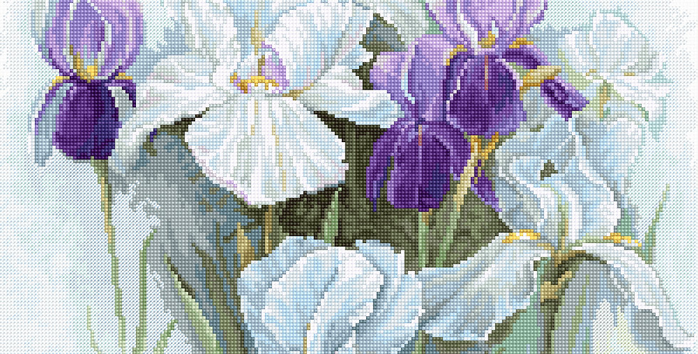 B2367 Irises - Cross Stitch Kit Luca-S