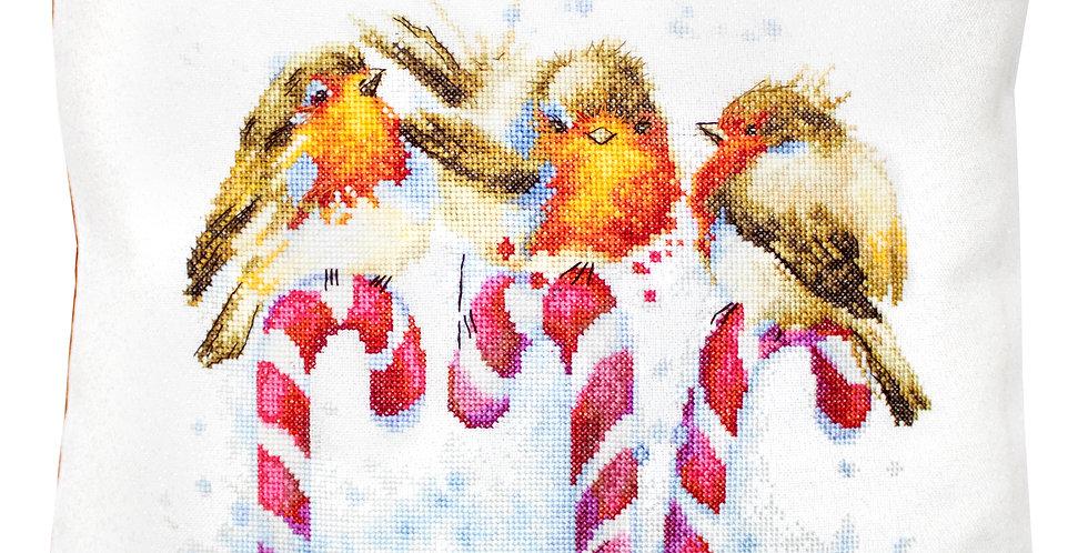 PB194 Christmas birds - Cushion