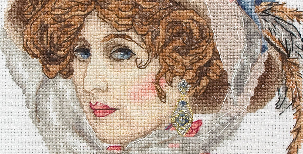 Maia Cross Stitch Kit - Victorian Portrait