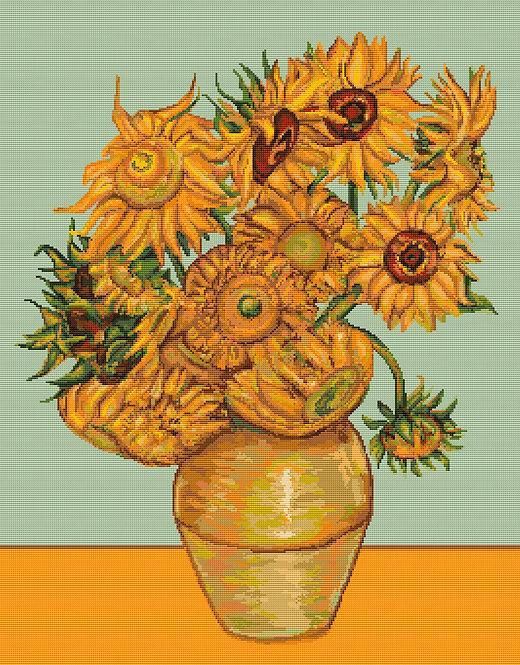 B422 Girasoles de Van Gogh - Luca-S - Kit de Punto de Cruz
