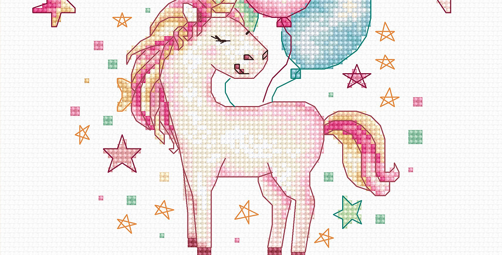 B1149 Unicorn - Cross Stitch Kit Luca-S