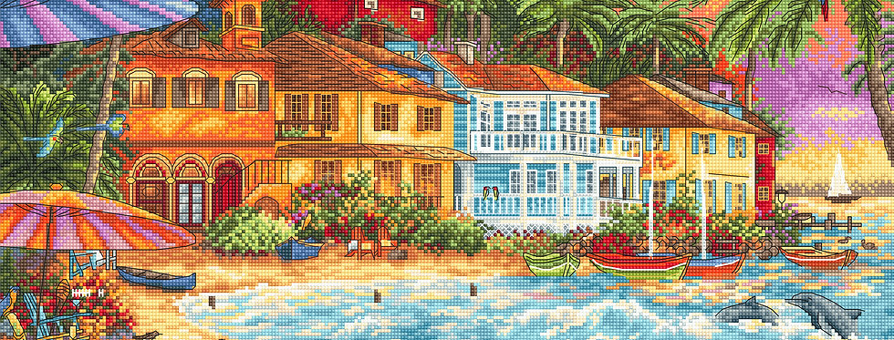 LETI 926 Island Time - Cross Stitch Kit LETISTITCH