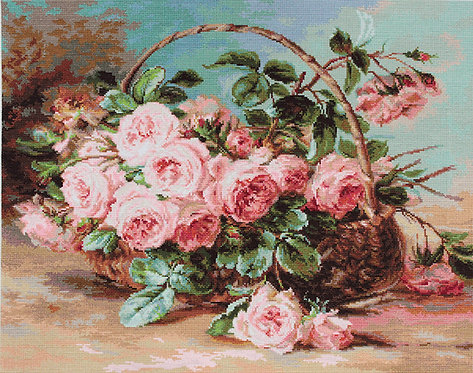 B547 Basket of Roses