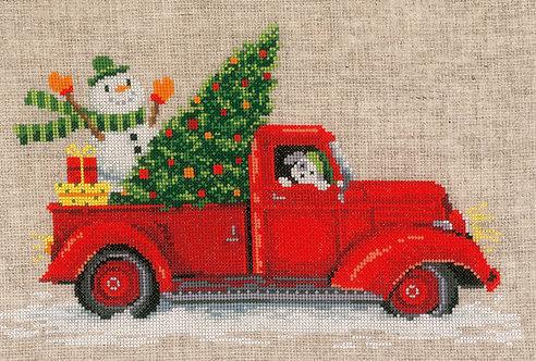 CHRISTMAS TRUCK - Vervaco - Kit de punto de cruz
