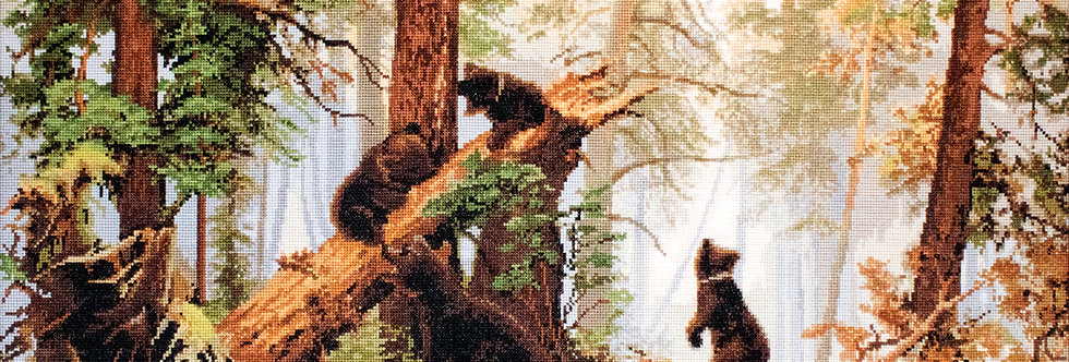 G452 Morning in a pine forest - Petit Point Kit Luca-S