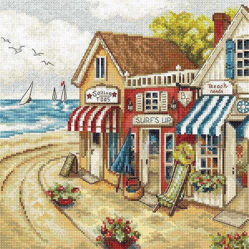 LETI 905 Shops by the sea, Kit de Punto de Cruz LETISTITCH