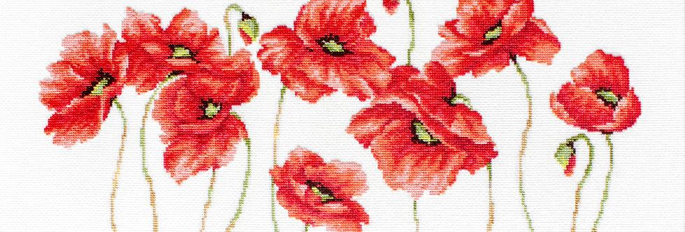 B2223 Red Poppies - Cross Stitch Kit Luca-S