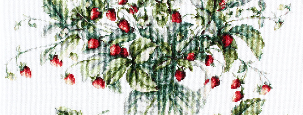B2267 Forest strawberries bouquet - Cross Stitch Kit Luca-S