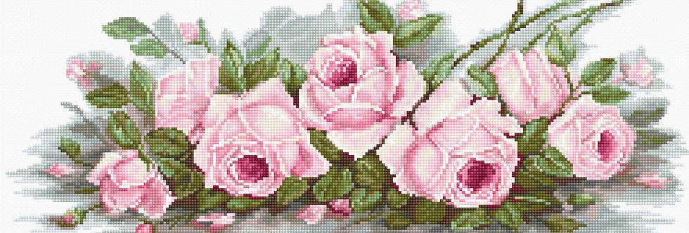 B2353 Romantic Roses - Cross Stitch Kit Luca-S