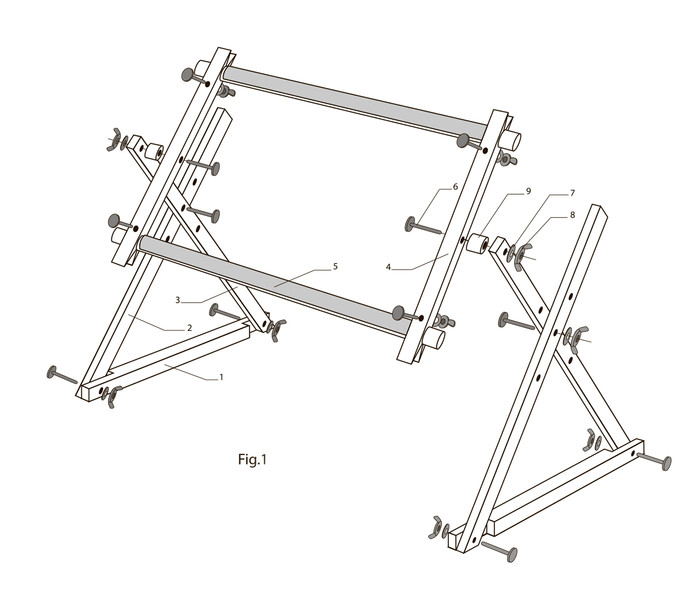 FRAME WITH SUPPORT - HOW TO ASSEMBLE?