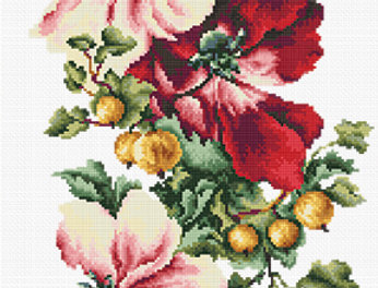 BM3001 Precious Poppies - Cross Stitch Kit Luca-S