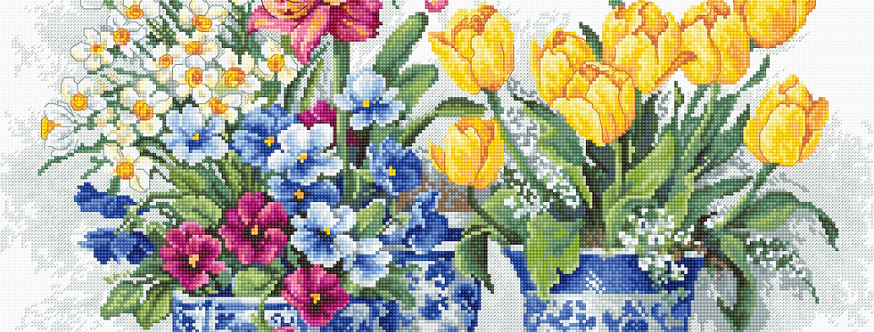 B2385 Spring garden - Cross Stitch Kit Luca-S