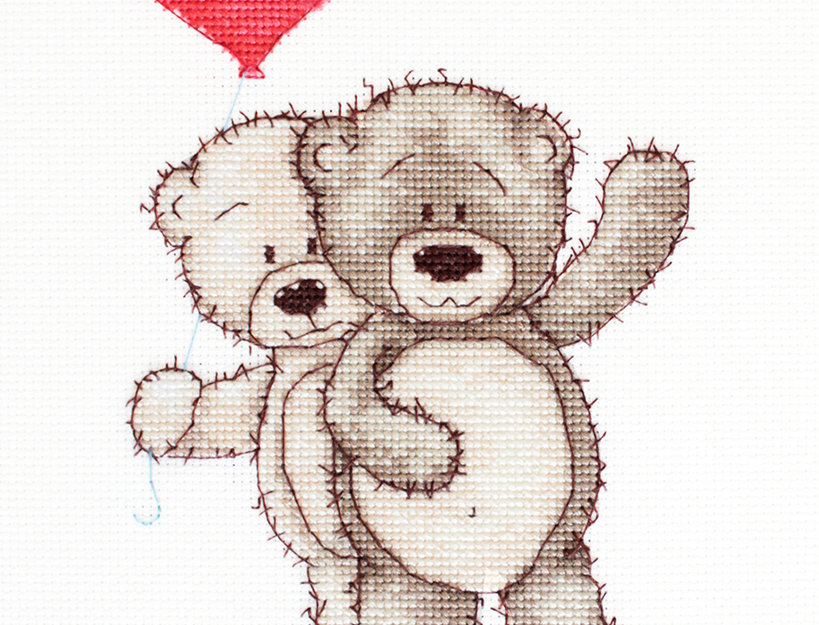 B1013 Bruno y Bianca - Cross Stitch Kit Luca-S