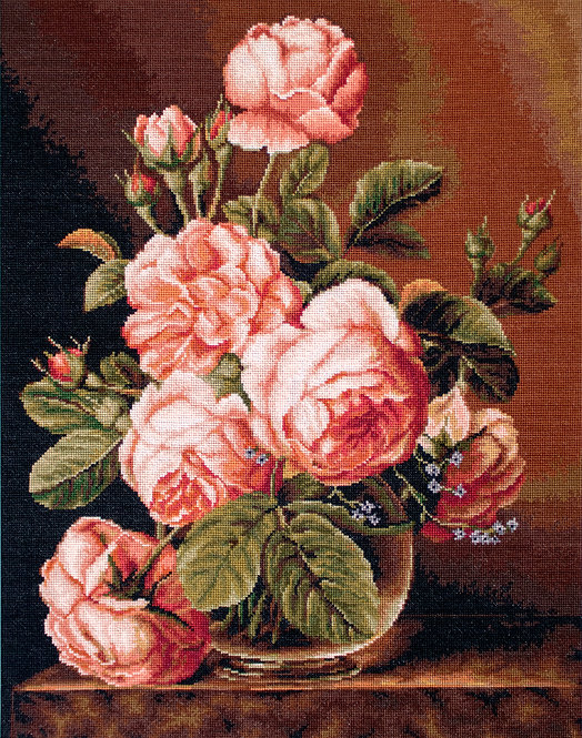 B488 Jarrón de rosas - Luca-S - Kit de Punto de Cruz