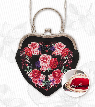 Bag - Black roses