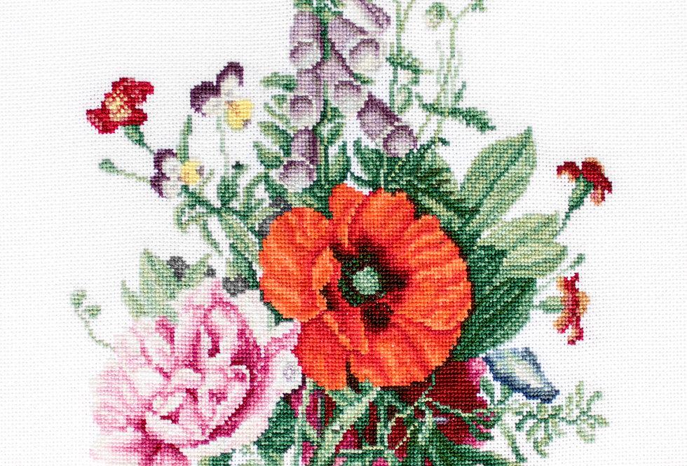 B2350 Poppy and Peony - Cross Stitch Kit Luca-S