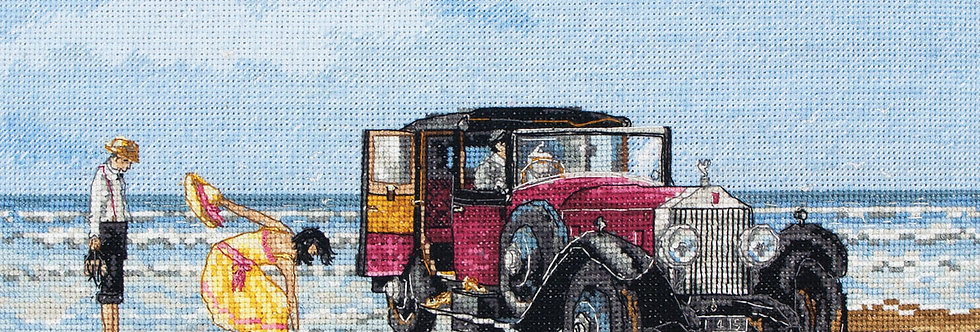 Anchor Essentials Cross Stitch Kit - Vintage Rolls on the Beach
